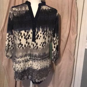 Per Seption Petite pull over blouse